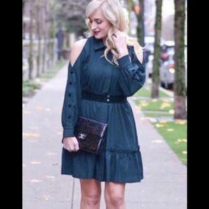 NWT // ECI emerald green dress // 14